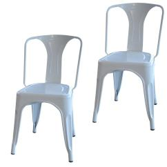 White Metal Chairs John Lewis Loose Dining Chair Covers Amerihome Set Of 2 Bs3530wset The Home Depot