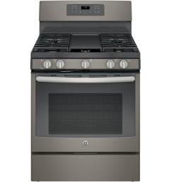 ge 5 0 cu ft gas range with self cleaning convection oven in slate fingerprint resistant [ 1000 x 1000 Pixel ]