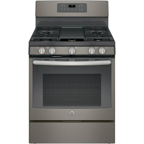 small resolution of ge 5 0 cu ft gas range with self cleaning convection oven in slate fingerprint resistant