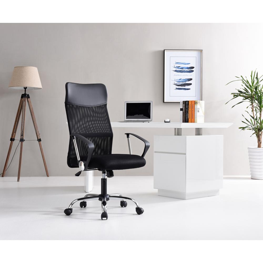 Realspace Fosner High Back Bonded Leather Chair Office Chairs Home Depot Jerusalem House