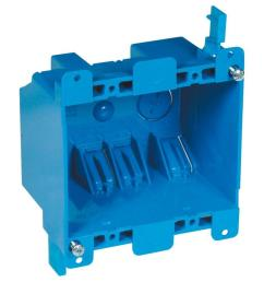 carlon 2 gang 25 cu in blue pvc old work switch and outlet box b225r upc the home depot [ 1000 x 1000 Pixel ]