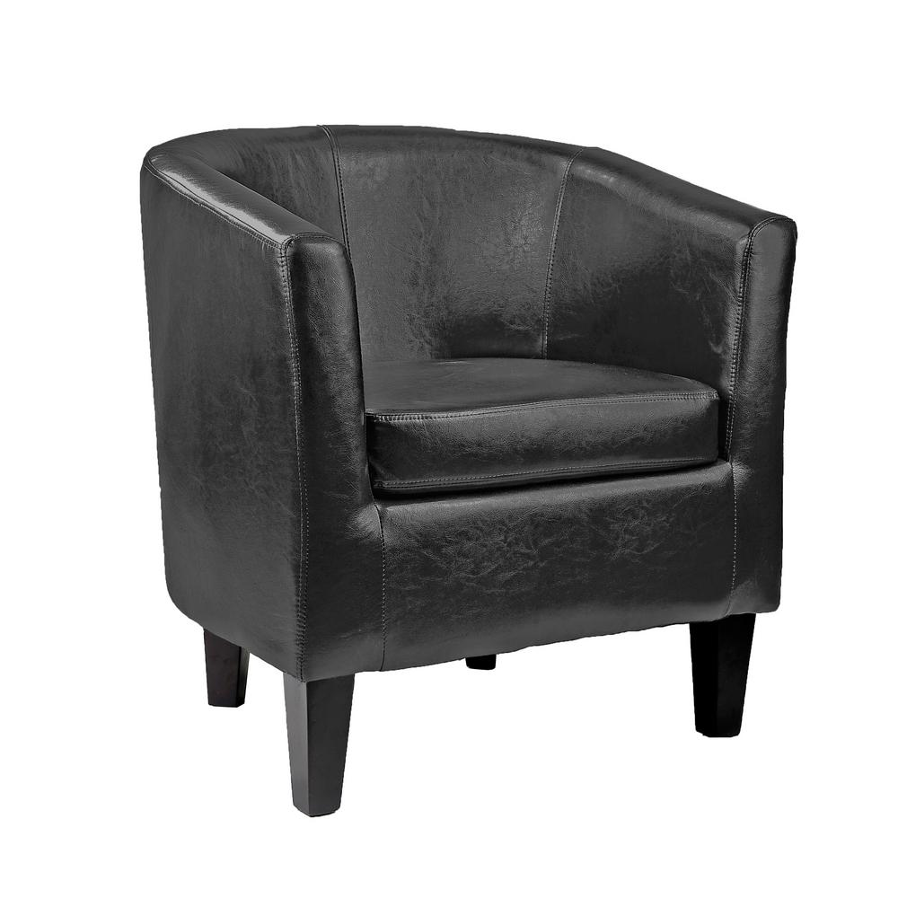 leather tub chair kimball fit corliving antonio black bonded lad 709 c the
