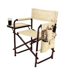 Camping Chairs With Side Table Chiavari Aluminum Picnic Time Botanica Collection Sports Portable Folding Patio Chair