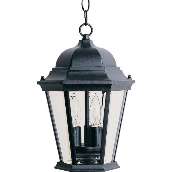 Maxim Lighting Westlake 3-light Black Outdoor Hanging Lantern-1009bk - Home Depot