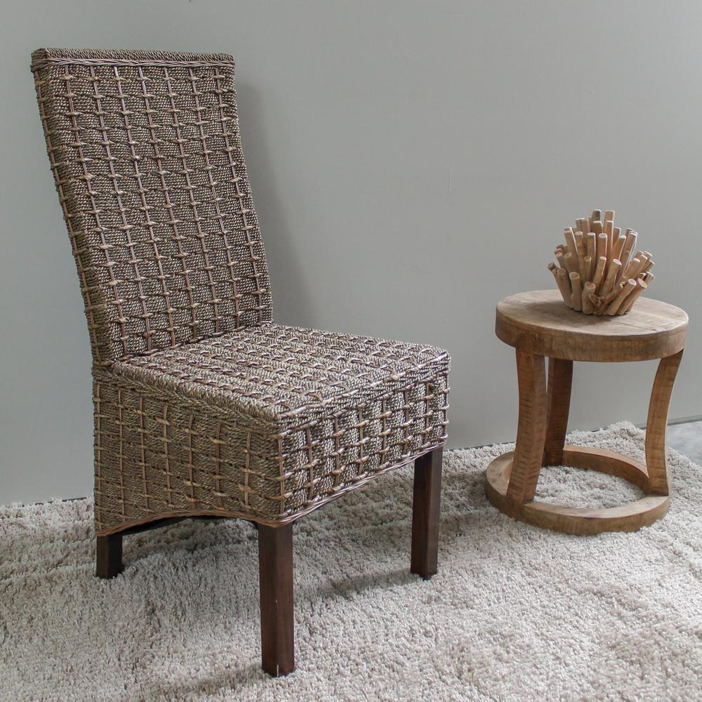 Seagrass Dining Chair Bayu Salak Brown Banana And Seagrass Dining Chairs With Mahogany Hardwood Frame Set Of 2