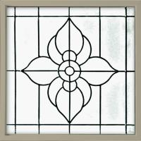 Hy-Lite 25 in. x 25 in. Decorative Glass Fixed Vinyl Glass ...