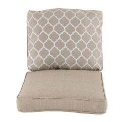 Swivel Chair Cushions Outdoor High Hampton Bay Beacon Park Toffee Replacement Lounge Cushion