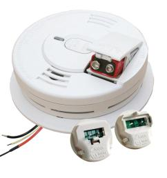 kidde hardwire smoke detector with 9v battery backup with adapters ionization sensor  [ 1000 x 1000 Pixel ]