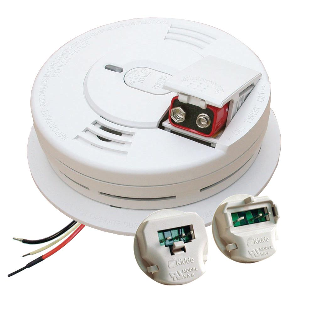 hight resolution of kidde hardwire smoke detector with 9v battery backup with adapters ionization sensor and 1