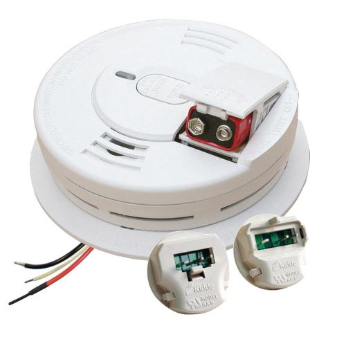 small resolution of kidde hardwire smoke detector with 9v battery backup with adapters ionization sensor and 1