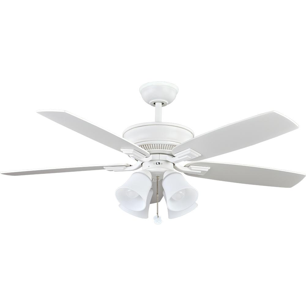 Hampton Bay Mercer 52 in. Indoor White Ceiling Fan with