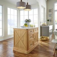 Home Styles Americana Black Kitchen Island With Storage