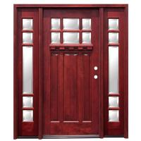 Pacific Entries 68 in. x 80 in. Craftsman 6 Lite Wood ...