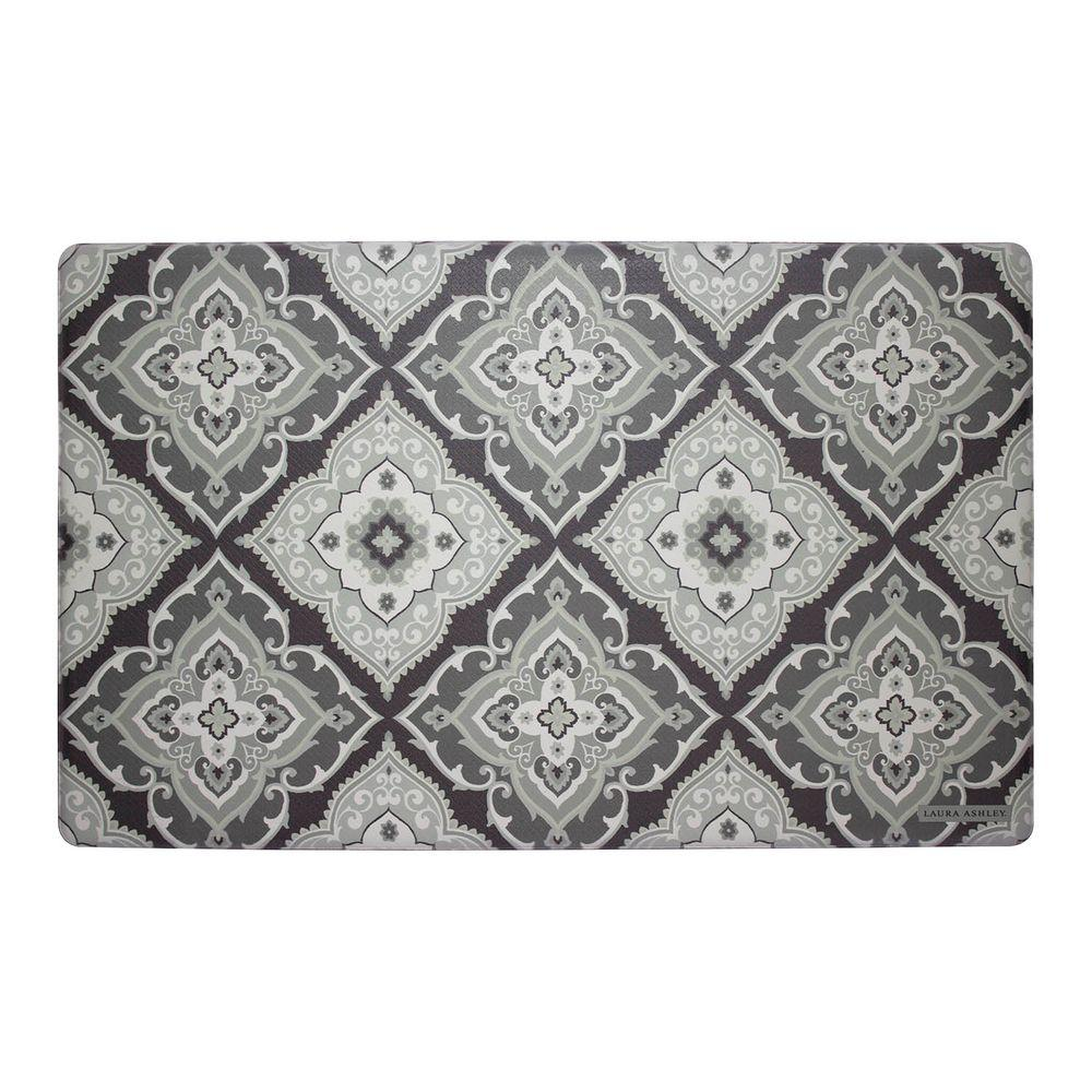 gray kitchen rugs under cabinet lighting options laura ashley allie 20 in x 32 memory foam mat