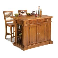 Kitchen Island Stool Danze Faucet Home Styles Americana Distressed Cottage Oak With Seating 5004 948 The Depot