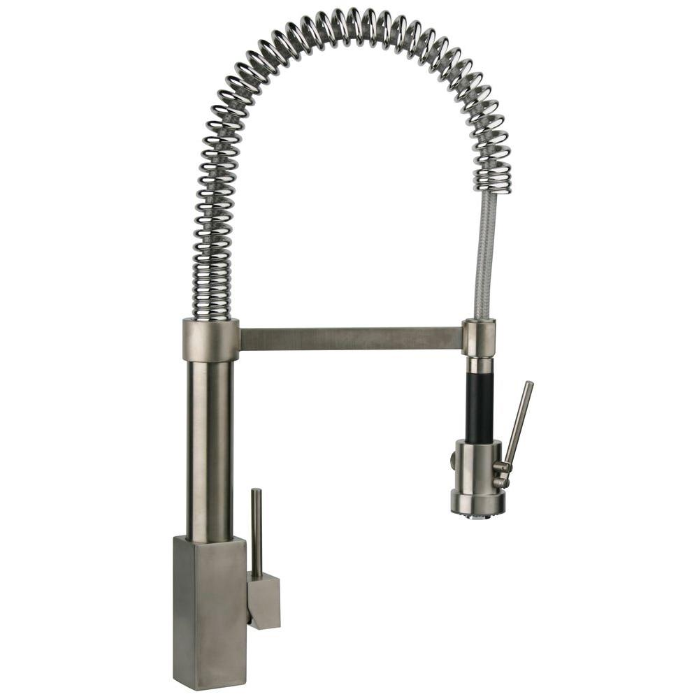 kitchen pull down faucet latest trends in flooring latoscana dax single handle sprayer with high arc spring spout brushed nickel