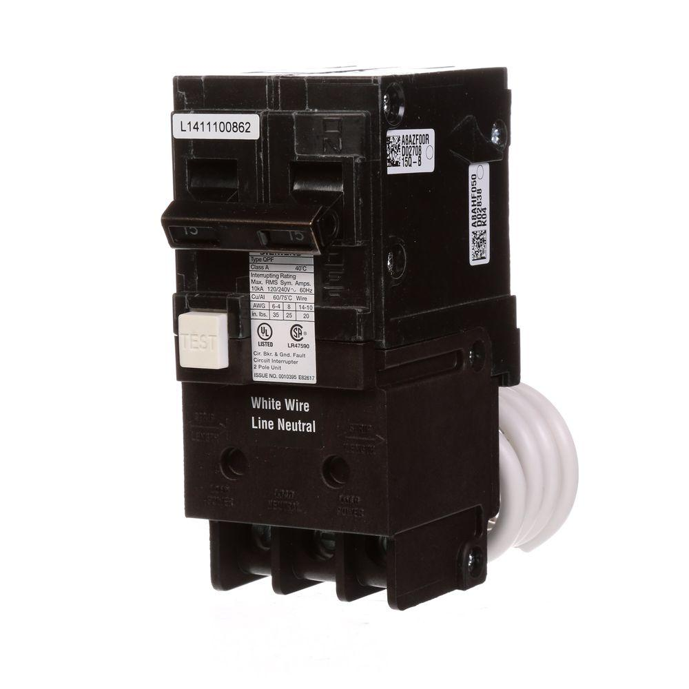 hight resolution of siemens 15 amp double pole type qpf2 gfci circuit breaker