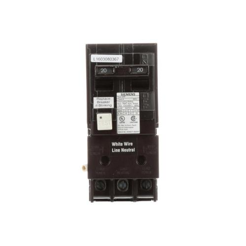 small resolution of siemens 20 amp double pole type qpf2 gfci circuit breaker