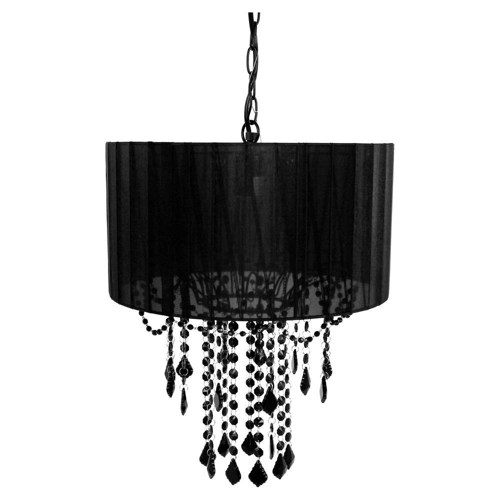 Bathroom Chandelier Lighting Tadpoles 1 Light Black Chandelier Shade