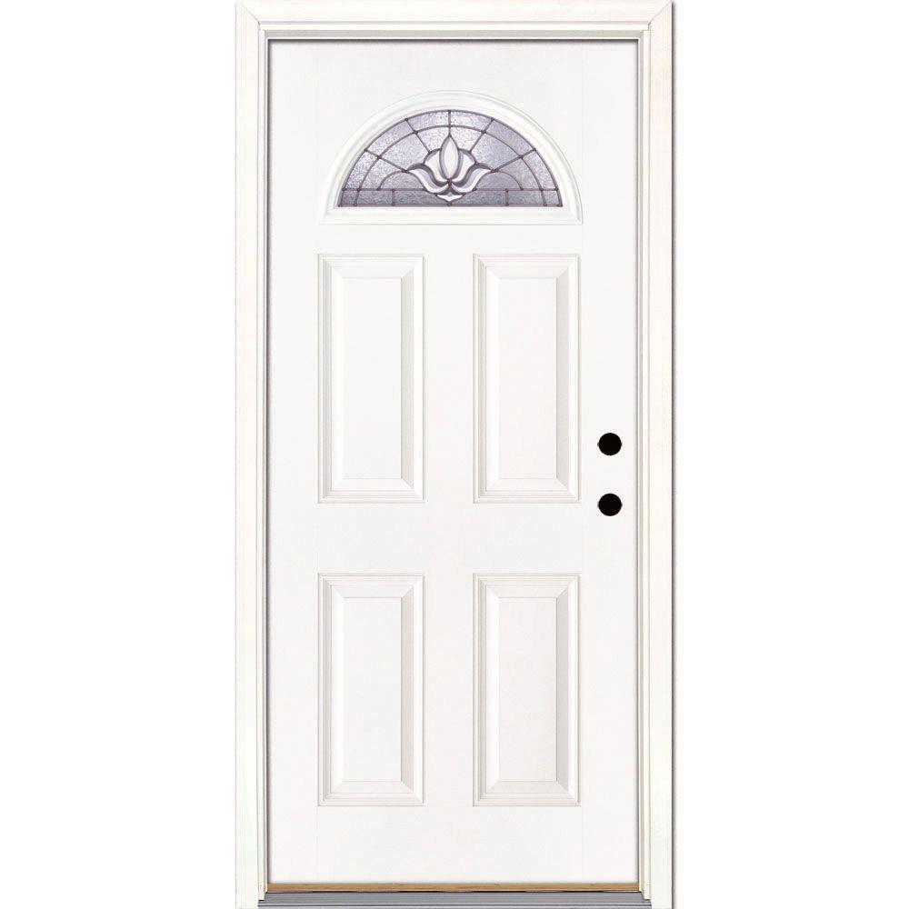Feather River Doors 37.5 in. x 81.625 in. Medina Zinc Fan