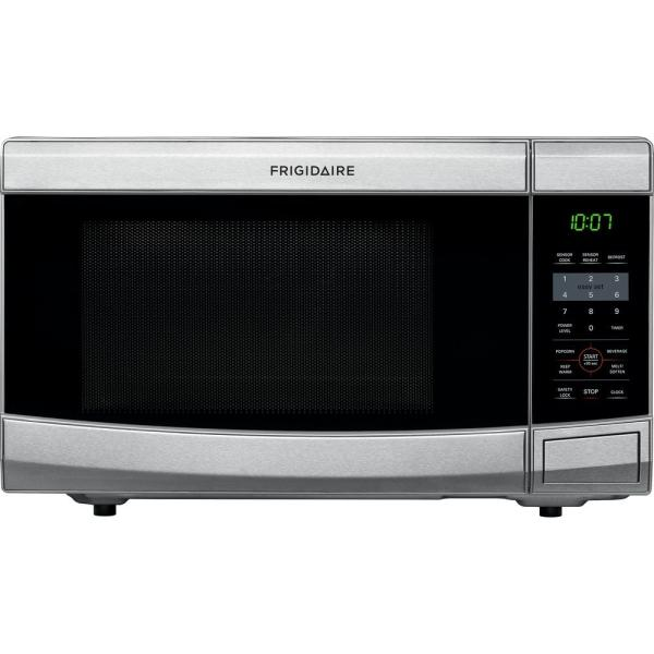 Frigidaire 1.1 Cu. Ft. Countertop Microwave In Stainless Steel-ffcm1134ls - Home Depot