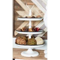 Stonebriar Collection 9 in. H Rustic Wooden Pedestal Tray ...