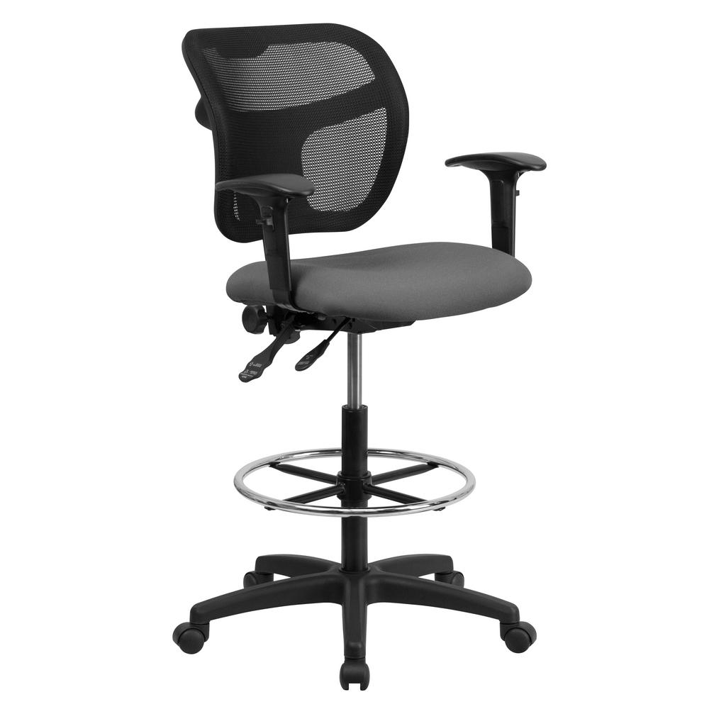 Work Smart Black Drafting ChairDC2990V  The Home Depot