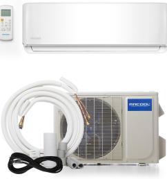advantage 18 000 btu 1 5 ton ductless mini split air conditioner and [ 1000 x 1000 Pixel ]