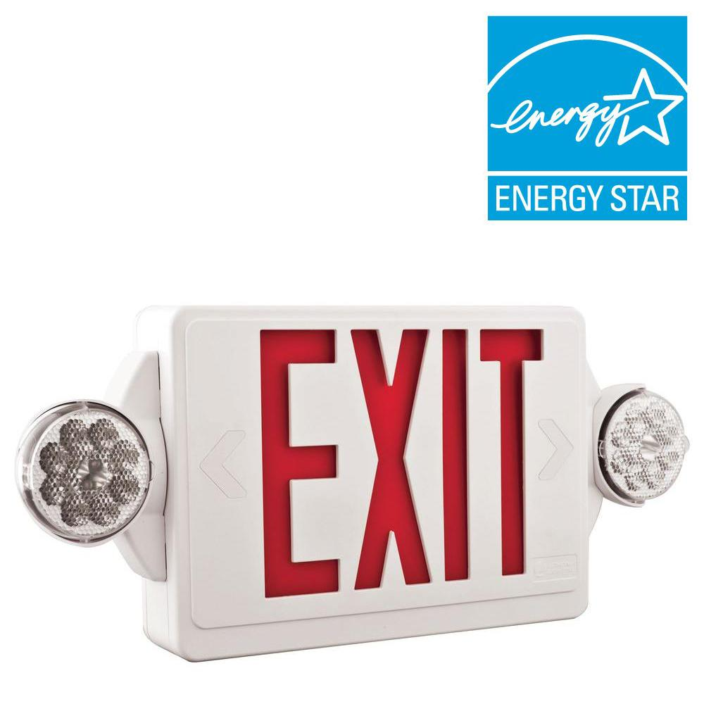 hight resolution of emergency exit lights commercial lighting the home depot diagram of wire and a light bulb and battery edge lite exit sign wiring diagram