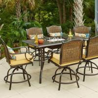 Hampton Bay Vichy Springs 7-Piece Patio High Dining Set ...