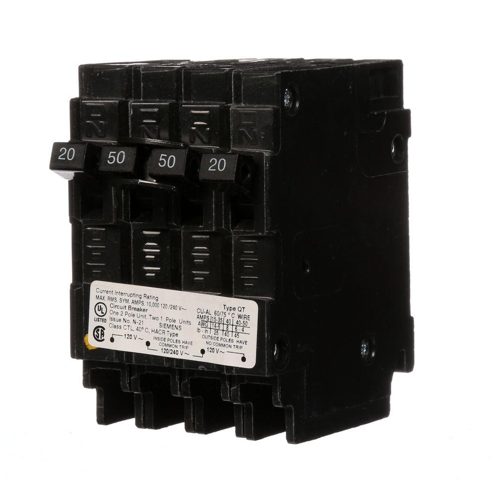 hight resolution of siemens triplex 2 outer 20 amp single pole and 1 inner 30 amp double pole circuit breaker q22030ct the home depot