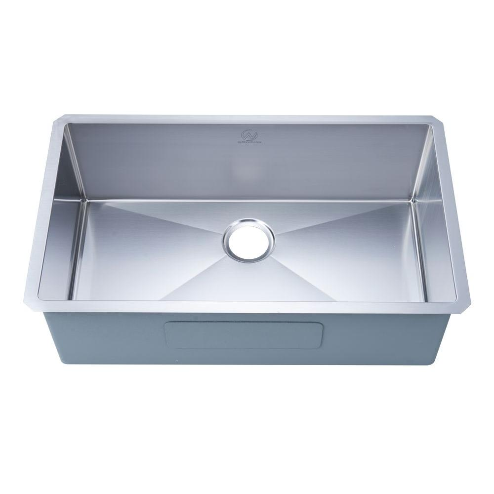 undermount single bowl kitchen sink basket stufurhome nationalware 18 gauge stainless steel 32 in
