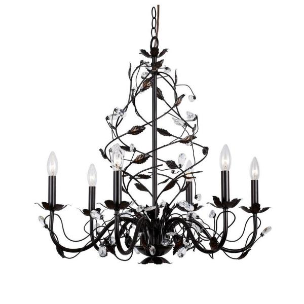Hampton Bay 6-Light Oil Rubbed Bronze Chandelier HD-236752