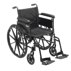 Drive Wheel Chair Lightweight Aluminum Webbed Folding Lawn Chairs Cruiser X4 Dual Axle Wheelchair With Adjustable Detachable Arms Full And Swing