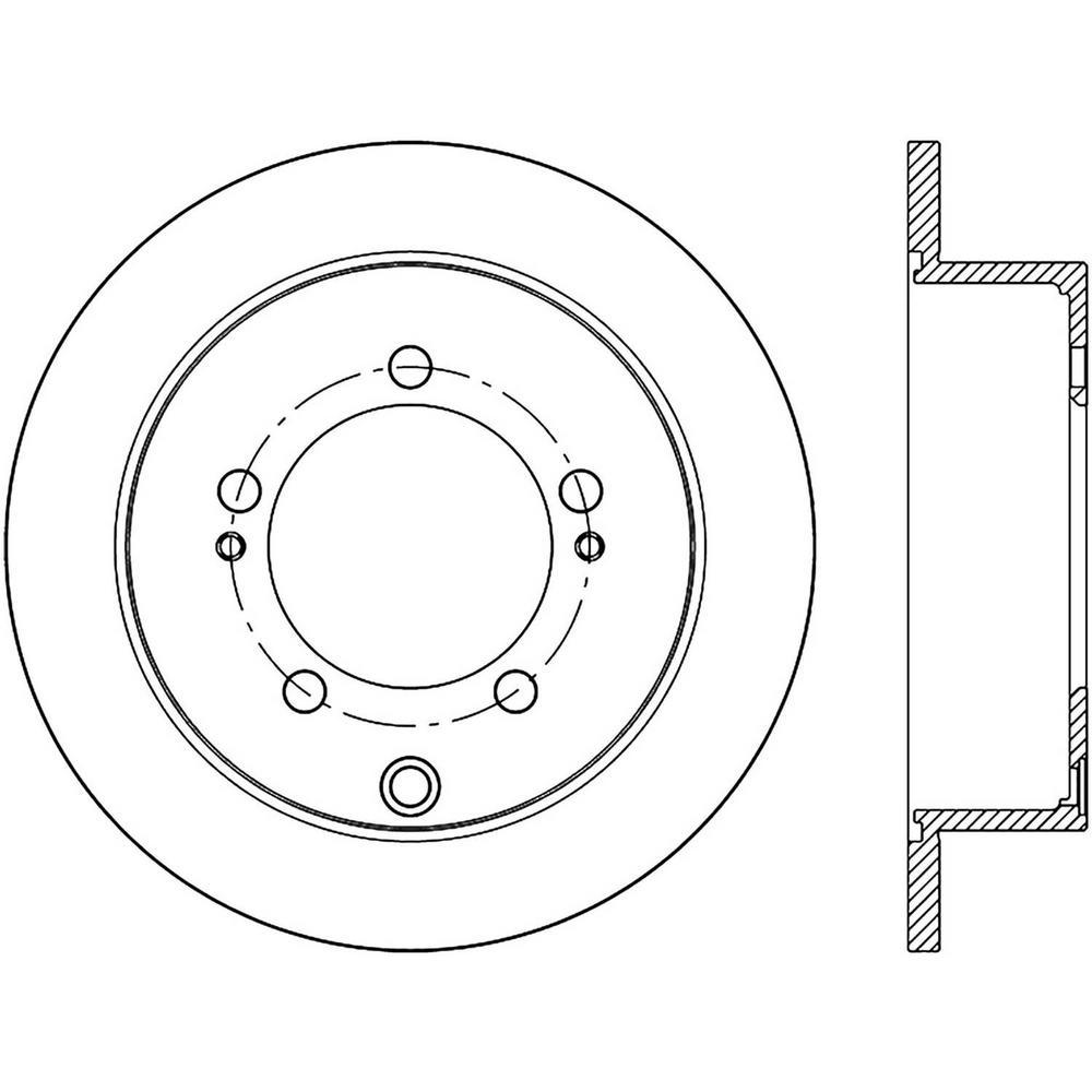 Centric Disc Brake Rotor 1997-2004 Mitsubishi Diamante-121