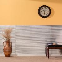 Fasade Rib 96 in. x 48 in. Decorative Wall Panel in Black ...