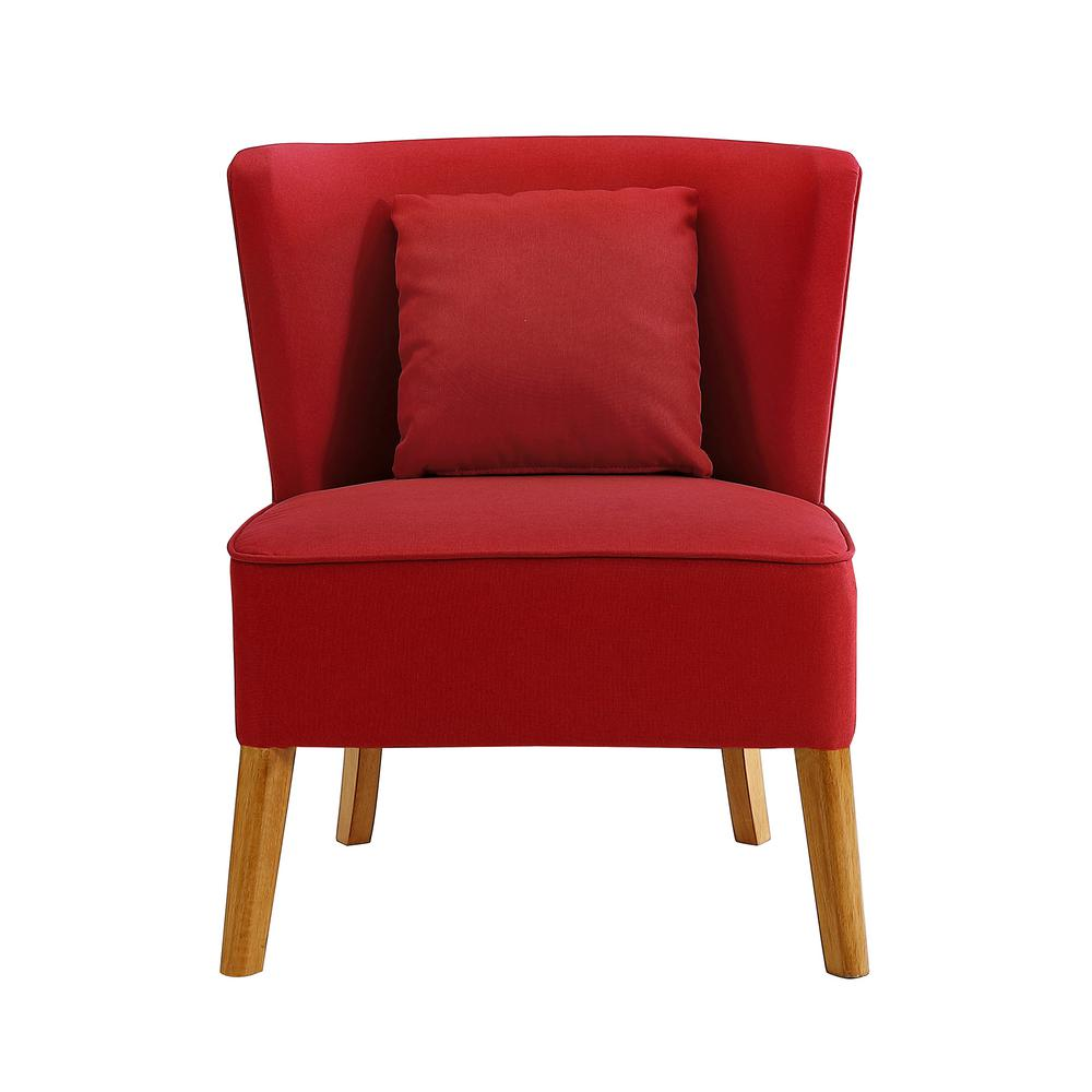 Curved Back Chair Walker Edison Furniture Company Red Accent Chair With Curved Back