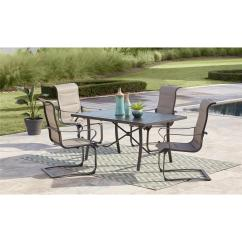 Sling Motion Patio Chairs Cheap Computer Chair Cosco Smartconnect 5 Piece Steel Outdoor Dining Set With Padded