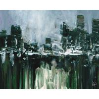 Creative Gallery 16 in. x 20 in. Kasama Abstract Cityscape ...
