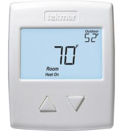 tekmar 518 digital non programmable 1 stage heat thermostat in white [ 1000 x 1000 Pixel ]