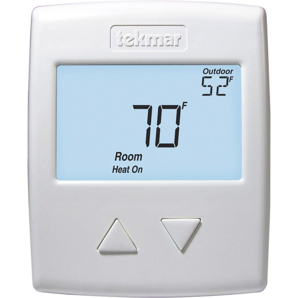 hight resolution of tekmar 518 digital non programmable 1 stage heat thermostat in white