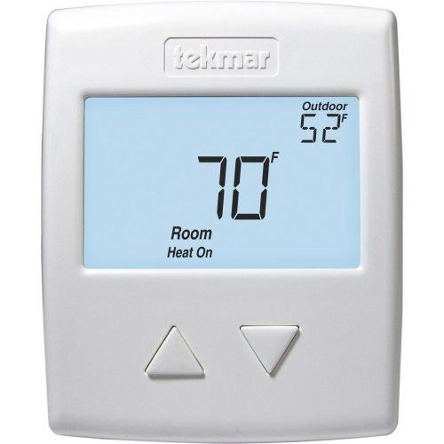 small resolution of tekmar 518 digital non programmable 1 stage heat thermostat in white