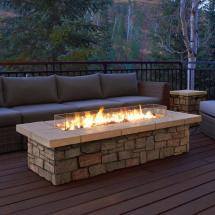 Real Flame Sedona 66 In. X 19 Rectangle Fiber-concrete