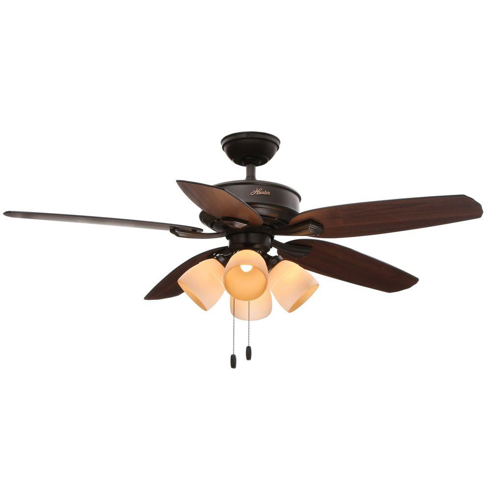 medium resolution of led indoor new bronze ceiling fan with light kit 52079 the home depot