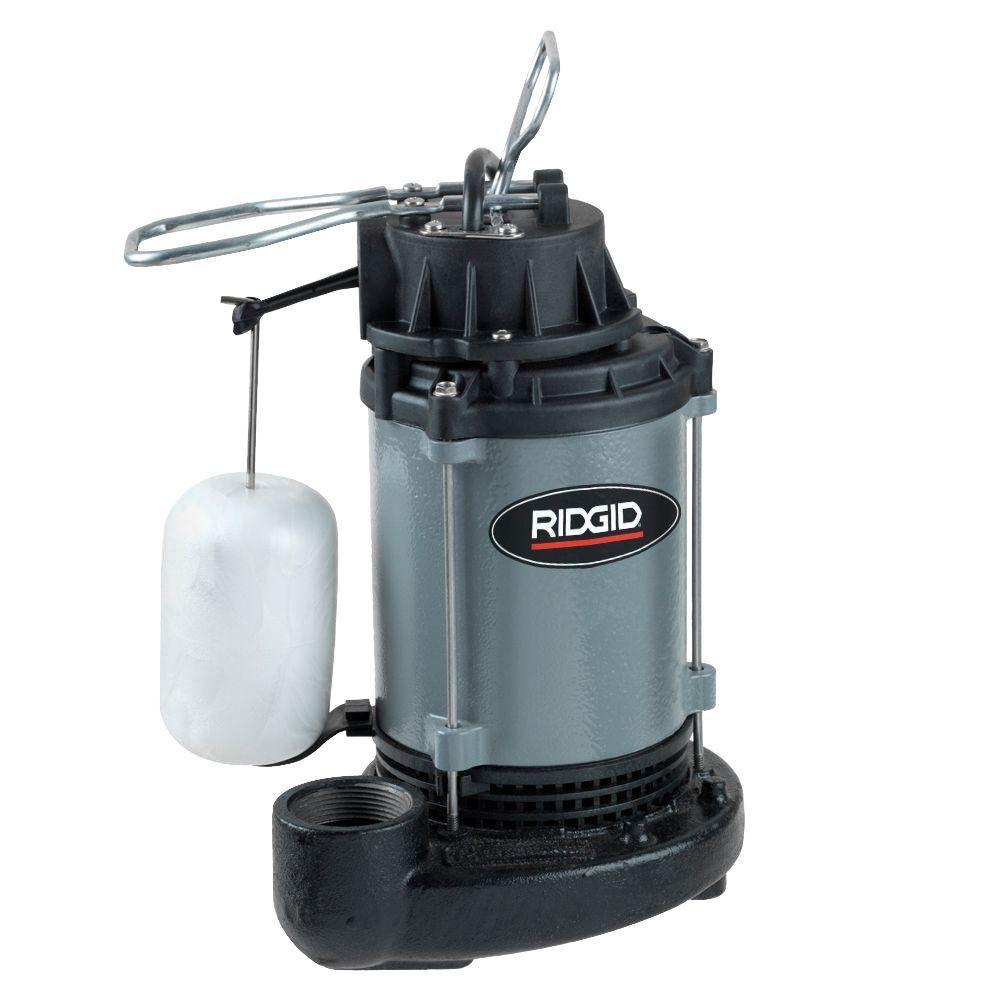 medium resolution of 1 2 hp cast iron submersible sump pump