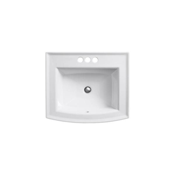 Kohler Archer Drop In Vitreous China Bathroom Sink With Overflow Drain In White K 2356 4 0 The Home Depot