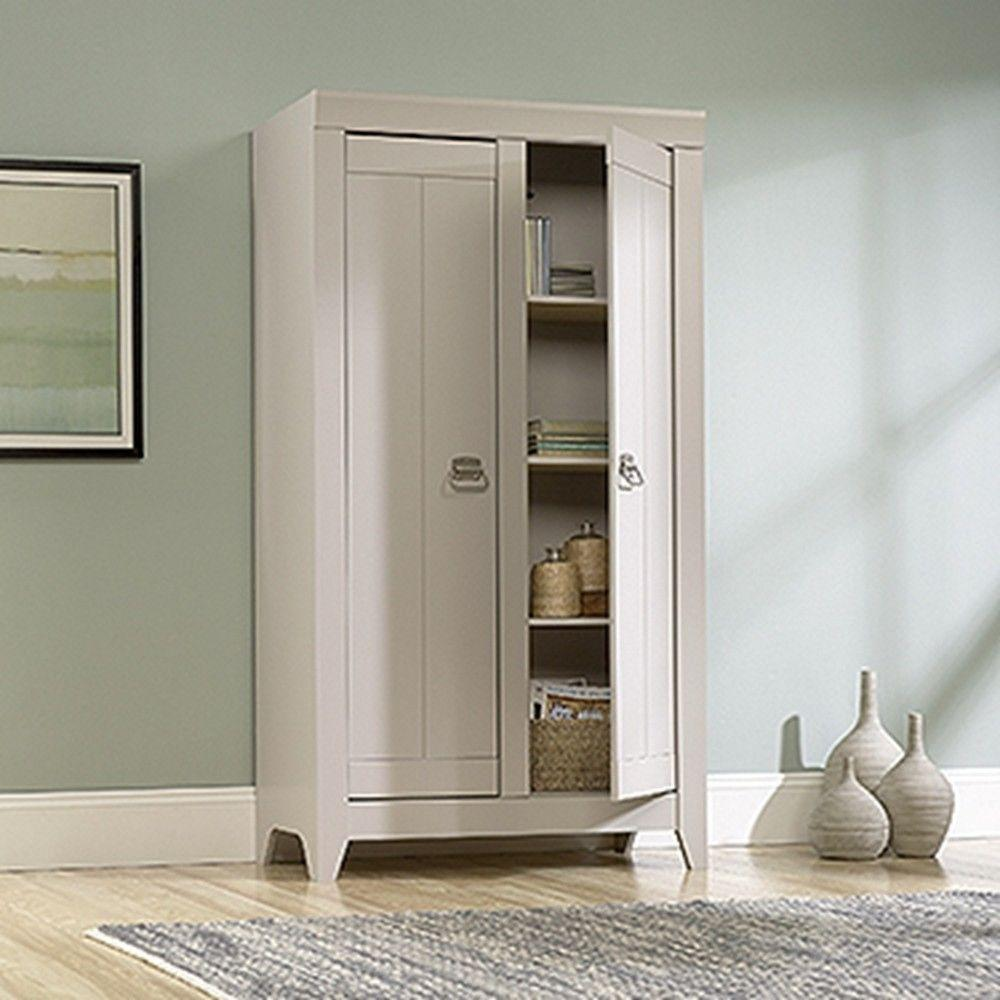 SAUDER Adept Cobblestone Storage Cabinet418140  The Home Depot