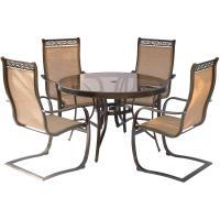 Hanover Monaco 5-Piece Aluminum Outdoor Dining Set with ...