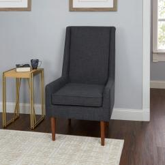 Modern Accent Chairs Cafeteria Tables And Silverwood Nelson Dark Grey High Back Mid Century Chair