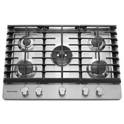 Kitchen Aid Gas Cooktop Trash Can Kitchenaid 30 In Stainless Steel With 5 Burners Including Professional Dual Ring Burner